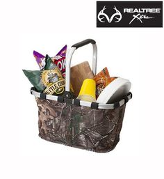 This #NEW market #RealtreeXtra #camo basket is great for transporting food to deer camp, party, concerts, sporting events, or any activity.
