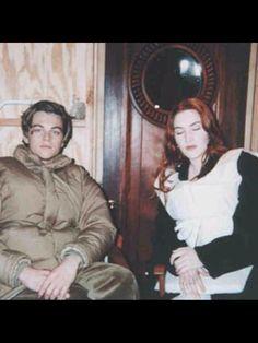 Titanic extra- Kate Winslet and Leonardo DiCaprio behind the scenes