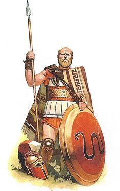 Nikolay Zubkov - Hóplita griego, siglo V AC.