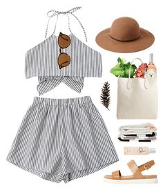 """Picnic #942"" by maartinavg ❤ liked on Polyvore featuring Forever 21, Ray-Ban, Rochas, ALDO, Calvin Klein and Vernissage"