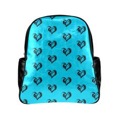 lovely hearts 17F by JamColors Multi-Pockets Backpack (Model 1636)