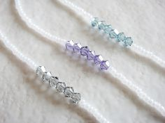 "White and Grey Friendship Minimalist Necklace   Length - 40cm (around 15.7"")"