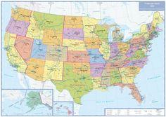 Politische Karte USA: plano in Versandrolle, 1:5 Mio. (Busche Planokarten) von Busche Verlagsgesellschaft mbH http://www.amazon.de/dp/3897642549/ref=cm_sw_r_pi_dp_Zz.Zwb1HDYSZ4