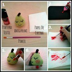 Cómo pintar coloretes a tus amigurumi. Noagurumis
