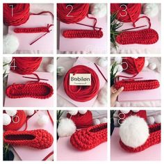 Videotutoriales – Pantunflas – Zapatillas – Trapillo – Crochet XXL – Comando Craft Ribbed Crochet, Freeform Crochet, Diy Crochet, Crochet Stitches, Crochet Sandals, Crochet Shoes, Crochet Slippers, Knitting Patterns, Crochet Patterns