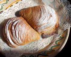 Sfogliatelle or Canolli; The Ultimate Italian Pastry Recipe    A crispy pastry consisting of hungreds of layers filled sweetened ricotta and semolina.    This recipe was taken from an antique cook book given to me by Chef Antonio Cannavacciuolo who runs a 2 star Michelin restaurant at the Villa Crespi in Piedmonte, Italy.