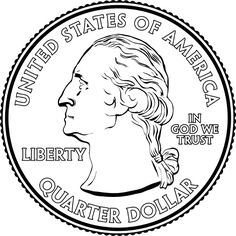 This mathematics ClipArt gallery offers 5 images of the United States currency known as the quarter. Illustrations include the front and back of the quarter as well as an array of quarters. Clipart Gallery, Math Anchor Charts, State Quarters, Quarter Dollar, American Symbols, In God We Trust, Coloring Pages To Print, Drawing Lessons, Kindergarten Math