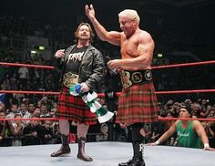 """Ric Flair and """"Rowdy"""" Roddy Piper."""