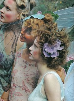 Vogue Nippon 2002 #hair #flowers #long