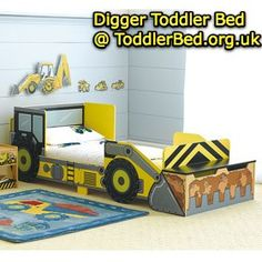 Ohh my goodness a digger bed!! Id love to have this for Kayden in a twin size!