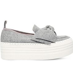I want!!! KG KURT GEIGER Lucky flatform shoes (Grey
