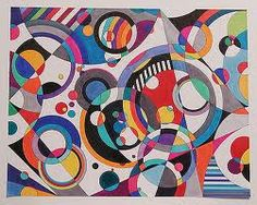 Eye Candy 3 abstract geometric painting by famous American artist Bruce Gray. Geometric Artists, Abstract Geometric Art, Geometric Shapes, Abstract Landscape, Famous Art, Wassily Kandinsky, Elements Of Art, Art Plastique, Elementary Art