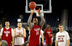 Oklahoma's Buddy Hield shoots during a practice session for the NCAA Final Four college basketball t... - AP Photo/David J. Phillip