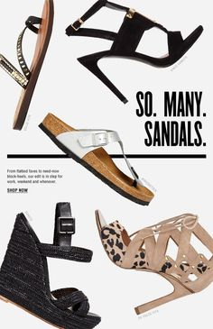 Executed well with many kinds of sandals together. Newsletter Layout, Email Layout, Newsletter Design, Banner Design, Layout Design, Print Design, Web Design, Shoes Ads, Men's Shoes