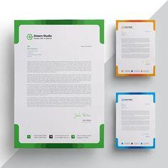 Modern company letterhead Company Letterhead Template, Letterhead Design, Stationery Templates, Brochure Template, Ppt Template, Stationery Design, Letterhead Paper, Letterhead Business, Business Card Design