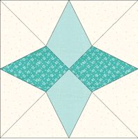 Arkansas snowflake quilt template. Also known as Periwinkle star.