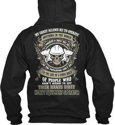 Heavy Equipment Operator Hoodie - Tshirt