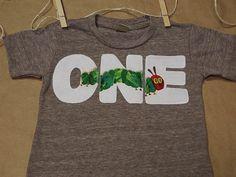 Very Hungry Caterpillar Birthday Shirt for boy or girl Organic Blend  Tee. $29.00, via Etsy.