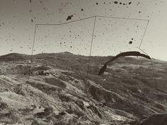 Nowhere Mountain III 2017 / #workonpaper #doubleexposure #nowhere #analogfilm #ink #roccadimaioletto #mypicture #newproject #vintageprints #nowhereland #blackandwhitephoto #mountainpictures #monolito #impossiblegeometry #linesanddots #mystudiotoday