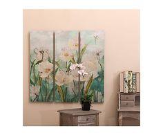 Set de 3 lienzos Flores - 90x30 cm