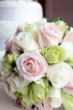 Bridal bouquet vintage pastel roses not green though! Vintage Bridal Bouquet, Bridal Flowers, Wedding Bouquets, Bridesmaid Bouquets, Bridesmaids, Pastel Roses, Lavender Roses, Pink Flowers, Pink Green Wedding