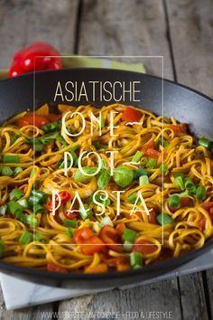 Rezept für asiatische One-Pot-Pasta | Recipe for vegan Asian-Style One-Pot-Pasta by ÜberSee-Mädchen