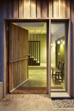 front door - new-build house - Long Farm - Suffolk - Lucy Marston House Entrance, Entrance Doors, Front Doors, Suffolk House, Turbulence Deco, Modern Barn, Round House, Building A House, Build House