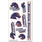 Boise State Tattoos by NCAA. $2.49. Officially licensed temporary tattoos. Each tattoo sheet comes with a collection of ten different temporary tattoos. Tattoos are applied with a wet cloth and easily removed with clear tape. Made in USA.