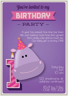 BFY_015 Baby First Birthday, Youre Invited, Our Baby, First Birthdays, Rsvp, Monkey, Invitations, Party, Fun