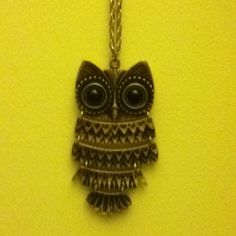 Owl Necklace....Claires