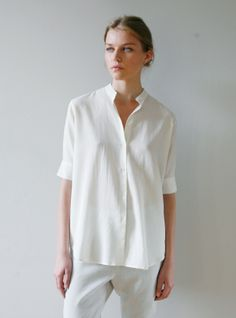 Young British Designers: PILOTTA by Studio Nicholson - SS12 take on SS11 sellout blouse. Wear over, wear under. Wear with boy blazer or shorts. You'll just keep on wearing.