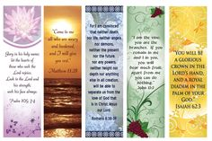 Free Printable Bookmarks with Bible Verses