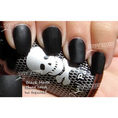 Hot Topic Matte Black Nail Polish ❤ liked on Polyvore featuring beauty products, nail care, nail polish, nails, makeup, accessories and beauty