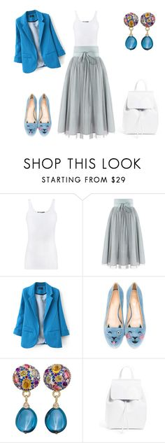 """""""Wednesday"""" by indiamonds ❤ liked on Polyvore featuring Vince, Charlotte Olympia and Mansur Gavriel"""