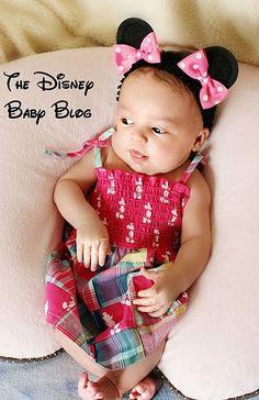 Minnie Mouse Ear Clips on Headband -- too adorable!