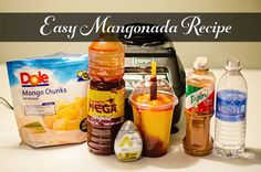 Easy Mangonada Recipe - how to make mangonada Mexican Snacks, Mexican Drinks, Mexican Food Recipes, Snack Recipes, Cooking Recipes, Mangonada Recipe, How To Make Mangonada, Bon Appetit, Kitchens