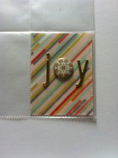 Joy December Daily insert