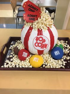 Save this Halloween pumpkin carving idea to make a popcorn bowl. Jack o' lanterns, you've met your match with these creative pumpkin carving ideas. Pumpkin Face, Diy Pumpkin, Pumpkin Crafts, Cute Pumpkin, Large Pumpkin, Cute Painted Pumpkin Ideas, Pumpkin Head, Halloween Pumpkins, Fall Halloween