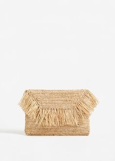 Straw clutch -  Women | MANGO USA
