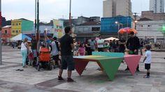 Mesa pública do projeto PINGPOINT no Largo da Batata Outdoor, Lifestyle, Potato, Ping Pong Table, The Great Outdoors, Outdoors
