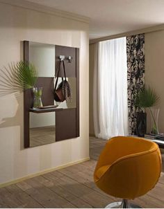 Space Saving Furniture, Oversized Mirror, Design, Home Decor, Ideas, Consoles, Entryway, Homemade Home Decor