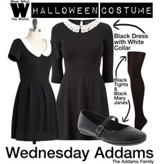 A Halloween Costume how-to inspired by Christina Ricci as Wednesday Addams in The Addams Family film franchise.
