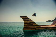 Colossal Skateboard Ramp Floats Gracefully on Lake Tahoe - My Modern Metropolis
