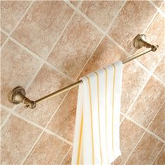 European Vintage Bathroom Accessories Antique Brass Towel Rack Retro Towel Bar