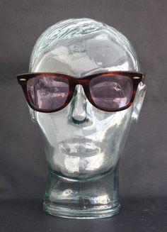 813b3c00e28 cherryREVOLVER Vintage Ray Ban WAYFARER 2052 WWAS Tortoise Shell with Thick  Brown Frame and Rx Prescription Lenses for Eyewear Sunglasses