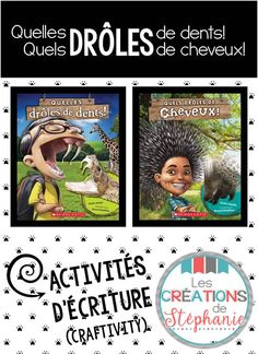 Les créations de Stéphanie : Et si tu étais un animal? Gratuité tirée des albums Quelles drôles de dents! et Quels drôles de cheveux! French Teacher, Teaching French, Teaching Tools, Teaching Resources, Grade 2 Science, Core French, French Classroom, French Immersion, Writer Workshop