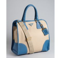 Prada cobalt and rope canvas top handle doctor bag- reminds me of Pan Am, wish that show was still on.
