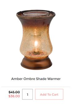 Amber Ombre Shade Warmer on SALE for $36 USD