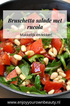 Bruschetta Recept, Vegetarian Recipes, Healthy Recipes, Good Food, Yummy Food, Happy Foods, Food And Drink, Veggies, Healthy Eating