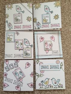 So popular these 4 x 4 stamped Inky Doodles cards.